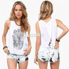 Women's Tank Top Round Neck Cascading Back Loose Casual Tops Vest