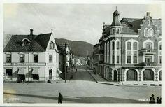 Nord-Trøndelag fylke Steinkjer Fint gateparti med A/S Nord-Trøndelag papirforretning Utg Mittet
