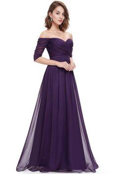 Women's Off Shoulder Evening Gown With Sweetheart Neckline - OASAP.com