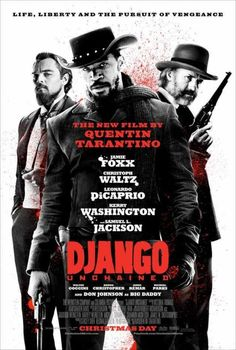 Django Unchained (Quentin Tarantino, 2012) - Tarantino creates another not-blaxploitation-but-still-blaxploitation film so he can continue his fascination with bad-ass black men and apologize to Germans for creating Inglorious Basterds by making Dr. Schultz the only decent white character in the film. Could be shorter, perpetually entertaining. Good.