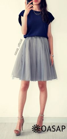 Two-Tone Mesh Paneled Midi Dress m.OASAP.com