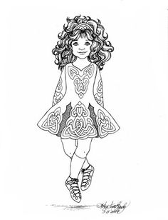 irish step dancer coloring page