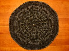 Gorey Pattern   Accent crochet pet rug by TheWellReadCat on Etsy, $60.00