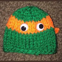 41 Ideas For Knitting Patterns Free Baby Hats Boys Ninja Turtles Knitting For Charity, Baby Knitting, Free Knitting, Knitting Patterns Free, Hat Patterns, Free Pattern, Joining Yarn, Homemade Bows, Nerd Crafts