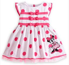 Gifts for the New Baby Girl:  Minnie Mouse Woven Dress for Baby @ Disney Store