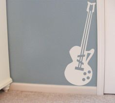 Guitar vinyl wall decal music decor for kids by HouseHoldWords, $19.00