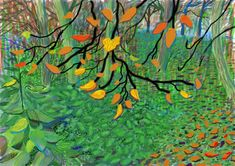 David Hockney, Autumn Leaves, Drawing in a Printing Machine, Annely uda