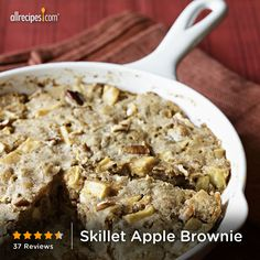 "Skillet Apple Brownie | "" There is one major thing wrong with this: It is just truly way too good!!! I am going to have such a hard time staying away from it."" -JOJOMOUSE"
