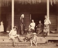 Robert Louis Stevenson - Wikipedia, the free encyclopedia -  The author with his wife and their household in Vailima, Samoa, c. 1892    Unknown - Royal Commission on the Ancient and Historical Monuments of Scotland / Scran
