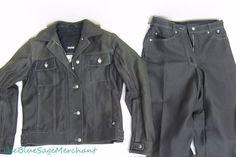 Womens BMW Black DENIM JACKET+PANT SET Motorcycle 10 R Schoeller Keprotech Lined #BMW