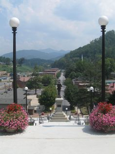 View of Sylva, NC from the library