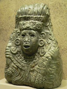 Jade bust of Quetzalcoatl Aztec 1350 to 1521 Mexico