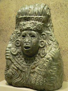 Jade bust of Quetzalcoatl Aztec 1350 to 1521 Mexico
