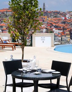 Visit our pool restaurant and relax with a beautiful panoramic view of Porto in The Yeatman Hotel. #Porto | #Portugal | #holidays  #travel