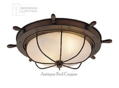 Vaxcel Lighting OF25515 Nautical Traditional Outdoor Flush Mount Ceiling Light VX-OF25515