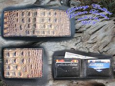 Check out this item in my Etsy shop https://www.etsy.com/listing/467795980/embossed-gator-wallet-gator-bi-fold