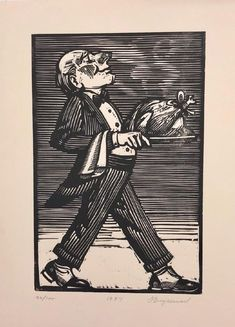 Tim Engelland ~ Turkey Served ~ Woodcut