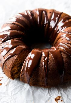 Dark Chocolate Pumpkin Bundt Cake Recipe from Sally's Baking Addiction