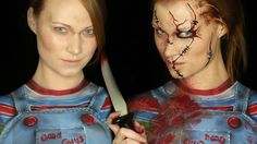 Chucky Makeup Tutorial (Clothes ALSO Painted on!)