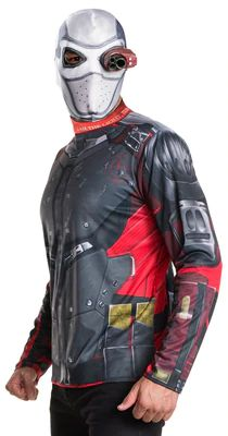 DC Comics Men's Suicide Squad Deadshot Costume, Size: Teen Boy Costumes, Halloween Costumes For Teens, Halloween Masks, Adult Costumes, Adult Halloween, Link Halloween, Halloween 2016, Funny Halloween, Halloween Stuff