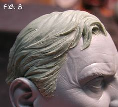 Sculpting Tutorials: Casteline Hair Sculpting Tutorial by Andy Bergholtz Polymer Clay Sculptures, Sculpture Clay, Polymer Clay Art, Garden Sculpture, Sculpting Tutorials, Art Tutorials, Sculpture Techniques, Art Techniques, Polymer Clay People