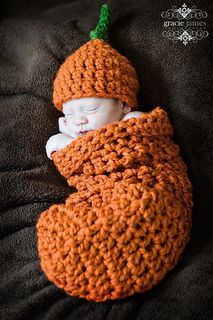 Cocoon & Hat Set - Chunky Pumpkin