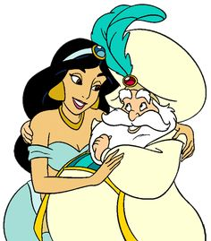 Princess Jasmine and her father, the Sultan Fathers Love, Happy Fathers Day, Disney Fun, Disney Frozen, Sultan Aladdin, Princesa Jasmine, Disney Clipart, Disney Princess Fashion, Aladdin And Jasmine