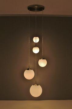 Modern Hanging Lights, Interior Lighting, Luster, Pendant Lighting, Architects, Salons, Stairs, Ceiling Lights, Interior Design