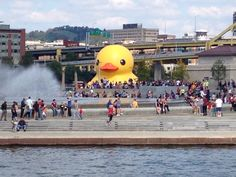 The big Yellow Duck. The Point, Pittsburgh, Pa