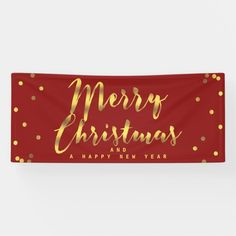 #promo Merry Christmas Faux Gold Confetti Red Banner #merry #christmas #happy #new #year #Banner #affiliatelink #merrychristmassigns #merrychristmas #holidaysigns #christmasdecor Happy New Year Text, Happy New Year Banner, Christmas Party Favors, Christmas Decorations, Merry Christmas Sign, Holiday Signs, Outdoor Banners, Gold Polka Dots, Gold Confetti