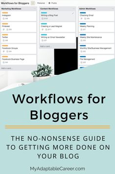 If you want to grow a successful blog, these workflows and checklists for bloggers will help you get more done and grow your blog faster. #blogging #successfulblogging