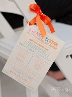 funny and cute wedding programs