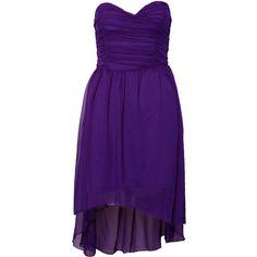 Paprika Mullet Hem Tube Dress ($15) ❤ liked on Polyvore