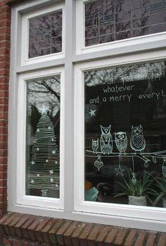 #christmas countdown dag 17: kerstraam en krijtstiften - interieurblog