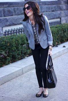 Work style - print shirt and suit separates