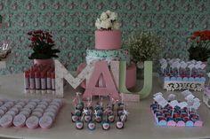 Festa 1 ano Malu - Mesa do bolo