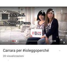 In occasione dell'iniziativa nazionale #ioleggoperché abbiamo realizzato un video amatoriale con la collaborazione dei cittadini di Carrara! Maggiori info  su www.inpuntadipennablog.it o https://www.youtube.com