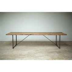 Dining Room Table. Reclaimed wood and recycled industrial steel. blake avenue tables - los angeles
