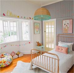 the boo and the boy: kids' rooms on instagram - the light! the bean bag! the bed! bambi! the grey!!