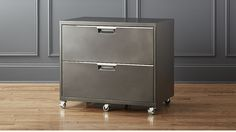 TPS Carbon Wide Filing Cabinet | CB2