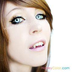 White Manson Crazy Lens Color Contact Lens - Circle Contact Lens - Cosmetic Contact Lens - Colored Contacts - HoneyColor.com $20.70
