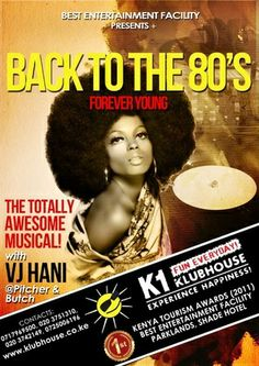 The Ultimate Back to the 80's, Nairobi, Parklands