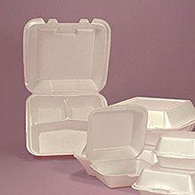 Foam Clamshell Take-Out Containers
