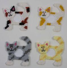 Cat Picture Frames Magnets Plastic Canvas Pattern