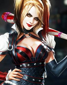 Harley Quinn in Batman: Arkham Knight.  - I need to cosplay Harley. or just cosplay. goddamnit.