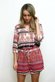 indian summer playsuit jumpsuit fashion  www.thebirdtree.com.au