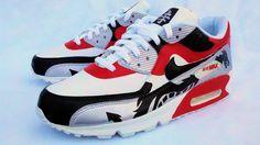 """""""Samurai's Blade"""" Custom Air Max 90 Nike Sneakers."""