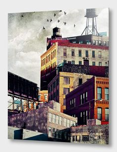 Looking for a last-minute gift for a Chicago-obsessed special somebody? Chicago photographer and graphic designer Tim Jarosz has been making these. Christophe Jacrot, Art Du Collage, City Collage, Canvas Prints, Art Prints, Urban Landscape, Art Plastique, Urban Art, Kitsch