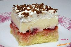 Těsto: 5 vajec, 20 dkg cukru krupice, 100 ml vody, 100 ml oleje, 25 dkg… Slovak Recipes, Czech Recipes, Mexican Food Recipes, Sweet Recipes, Cake Recipes, Dessert Recipes, European Dishes, Salty Foods, Mini Cheesecakes
