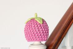 Raspberry Baby Hat Crochet Pattern | FaveCrafts.com